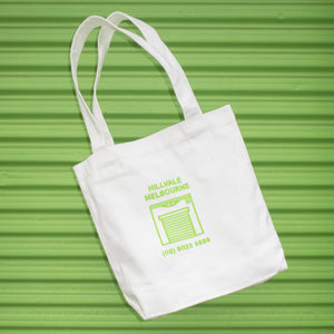Hillvale Shop Tote — White and Green