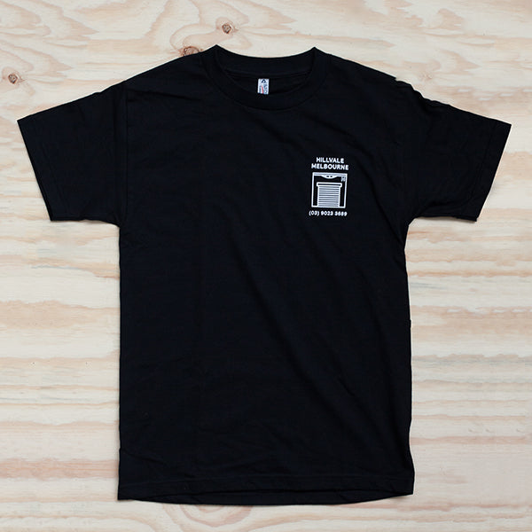 Hillvale Shop Tee — Black