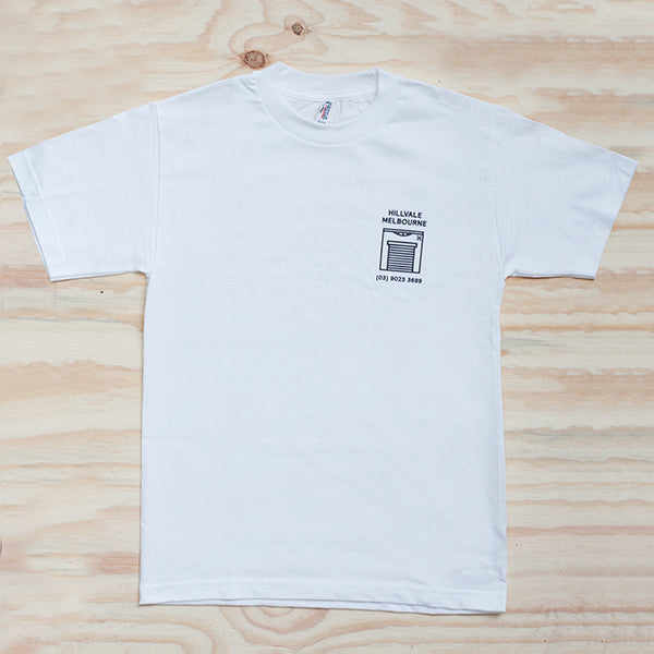 Hillvale Shop Tee — White