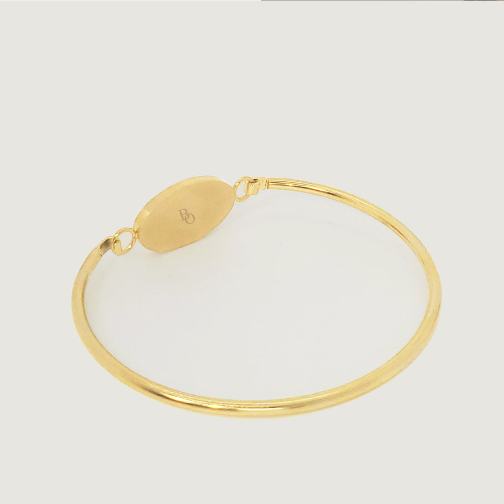 WOMENS GOLD HARMONY ROCKS BRACELET
