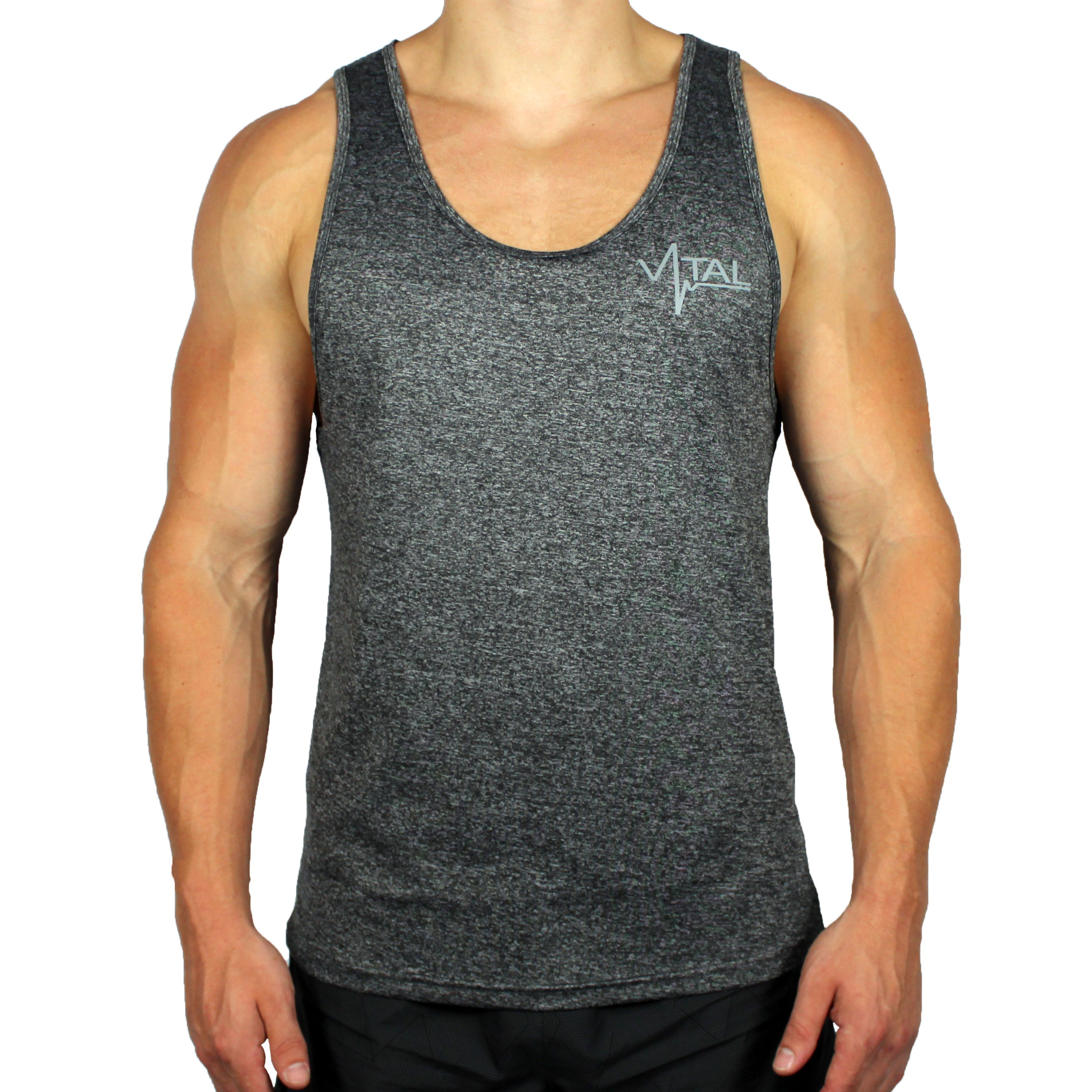 Vital Apparel Performance Tank Top - Heather Dark Grey