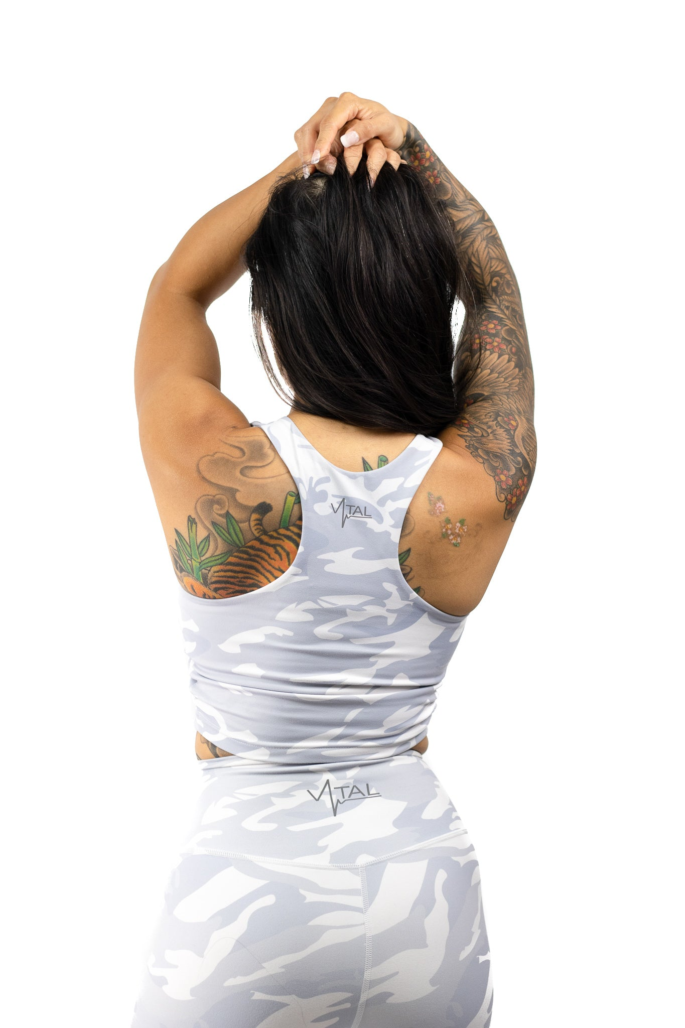 Vital Apparel Combat Crop Bra - Snow Camo