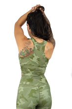 Plush V2 Combat Crop Bra - Green Camo