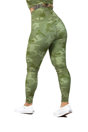 Plush V2 Combat Legging - Green Camo