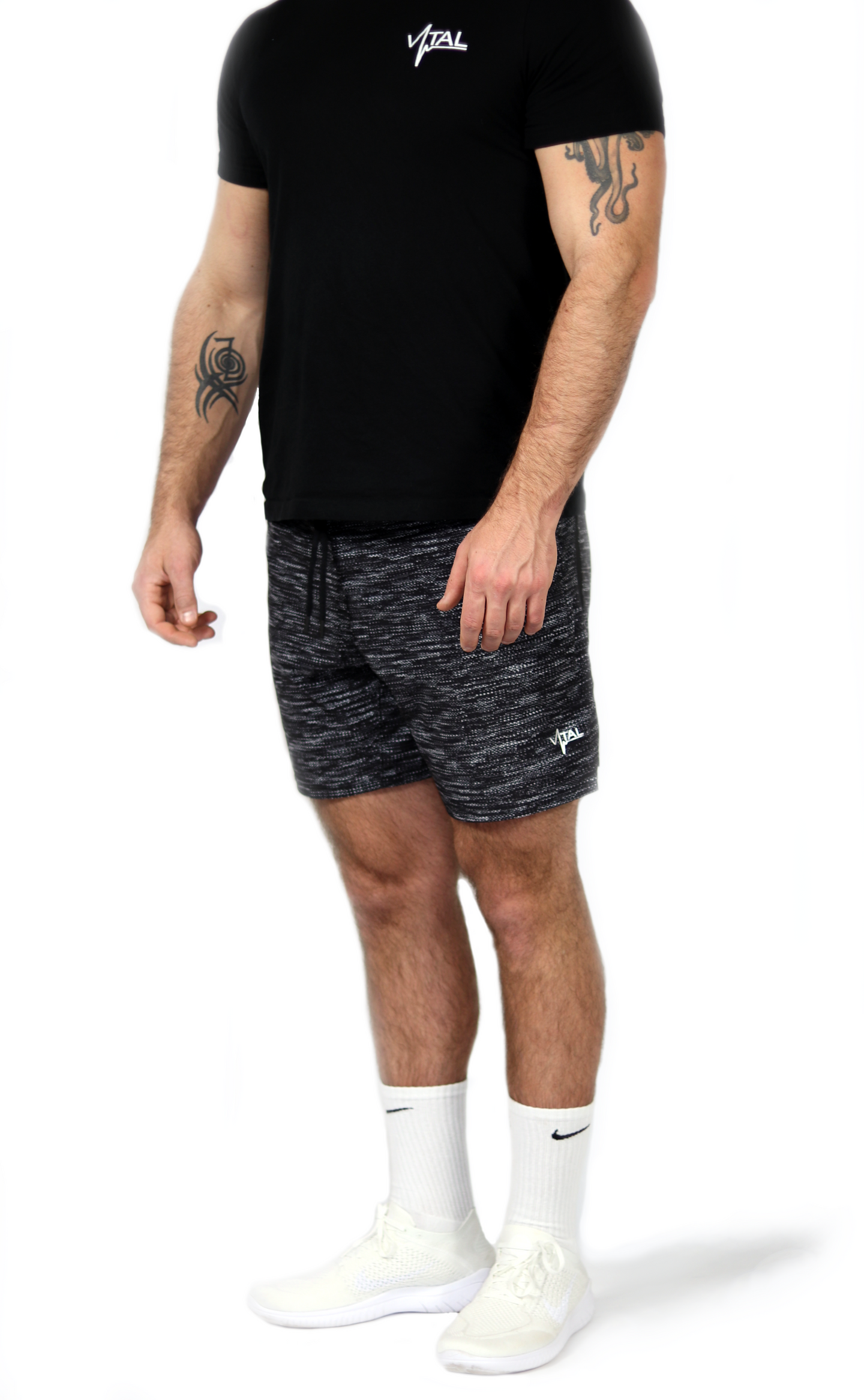 "Vital Apparel Carbon Shorts 8"" - Heather"