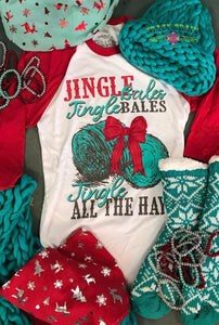 Jingle Bales Baseball Tee