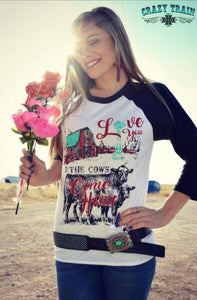 Til The Cows Come Home Baseball Tee