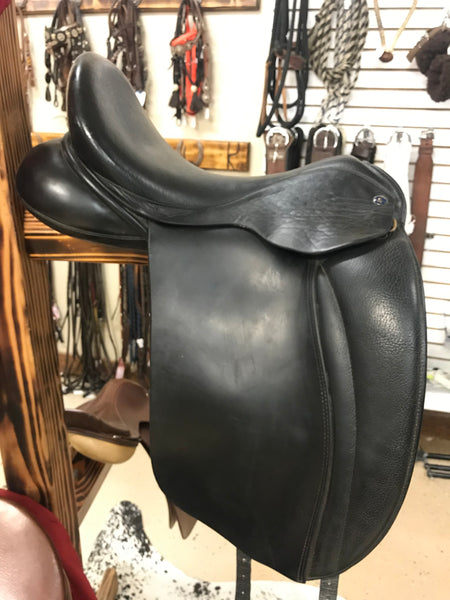 "17"" Hulsebos Dressage Saddle Wide Tree"