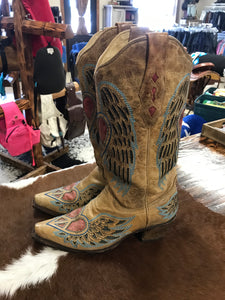 Corral western dress boots ladies 8