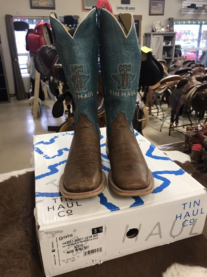 Ladies 8.5 Tin Haul Western Boots