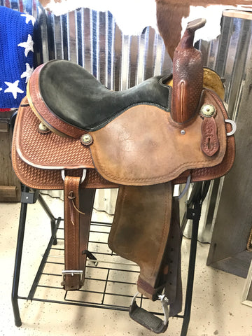 "15"" Crates Meleta Brown Barrel Saddle"