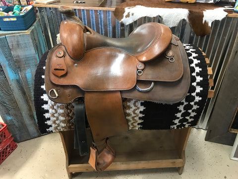 "16"" Kathy's Work Saddle FQHB"