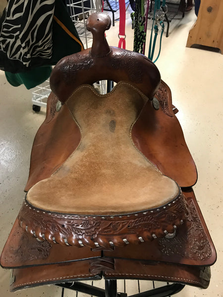 "16"" Hereford Tex Tan Pleasure Saddle"