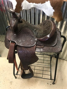 "13.5"" Youth Tooled Western Saddle"