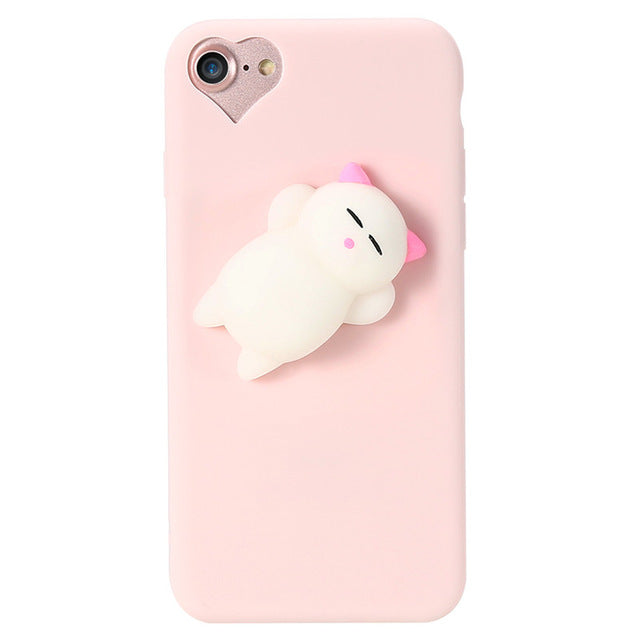 Squishy Cat Soft Phone Case for iPhone 5s SE 6 6s 8 7 6s 8 plus