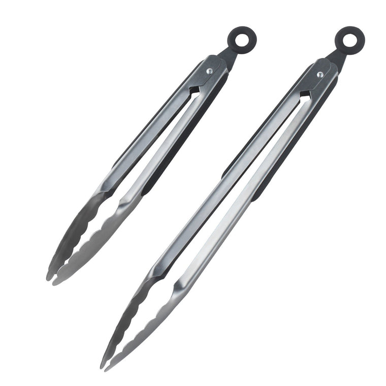 2pcs/set 12 inch and 9 inch Kitchen Tongs Stainless Steel
