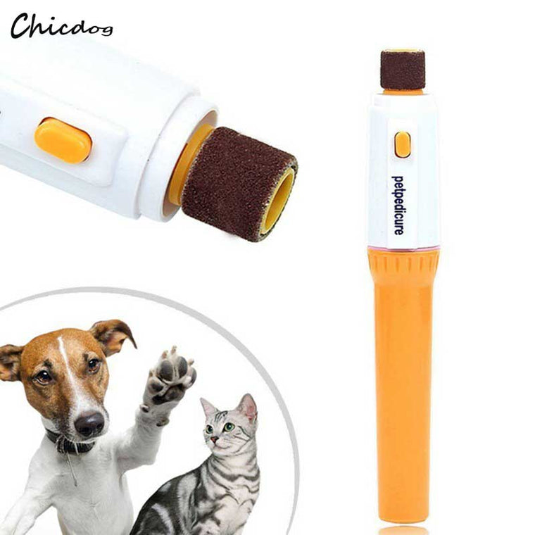 Electric Pet Dog Cat Puppy Claw Toe Nail Pedicure Grinder Clipper Trimmer