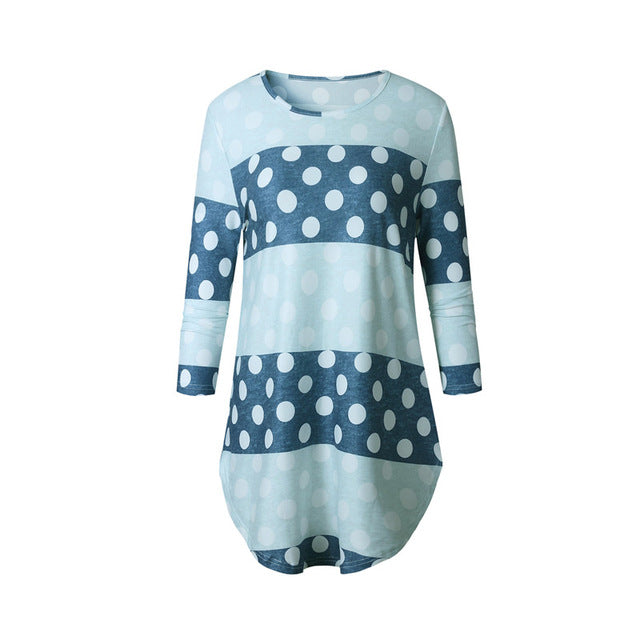 Printed Blue Dots T Shirt