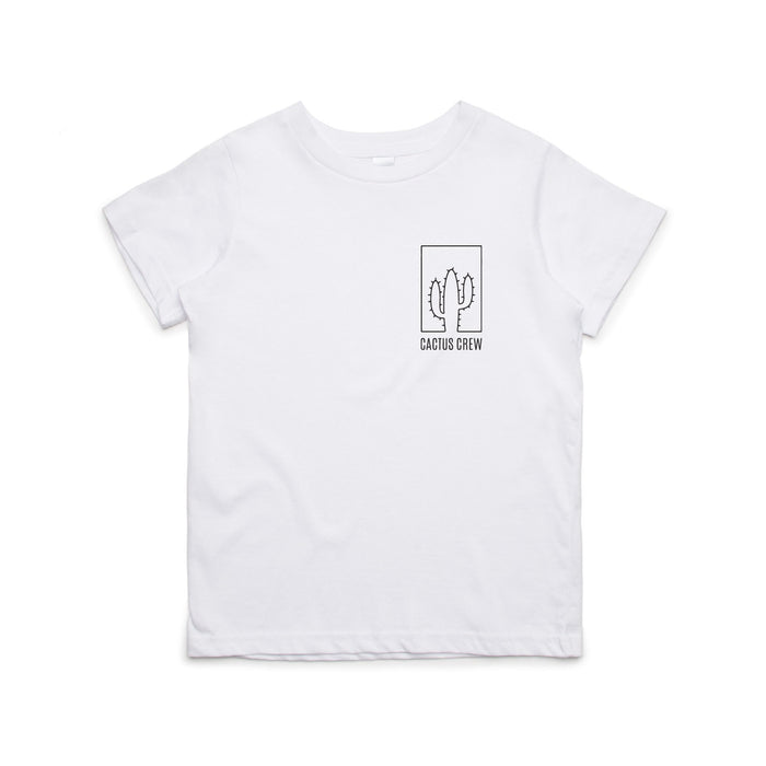 KIDS CACTUS CREW ORIGINAL T-SHIRT WHITE