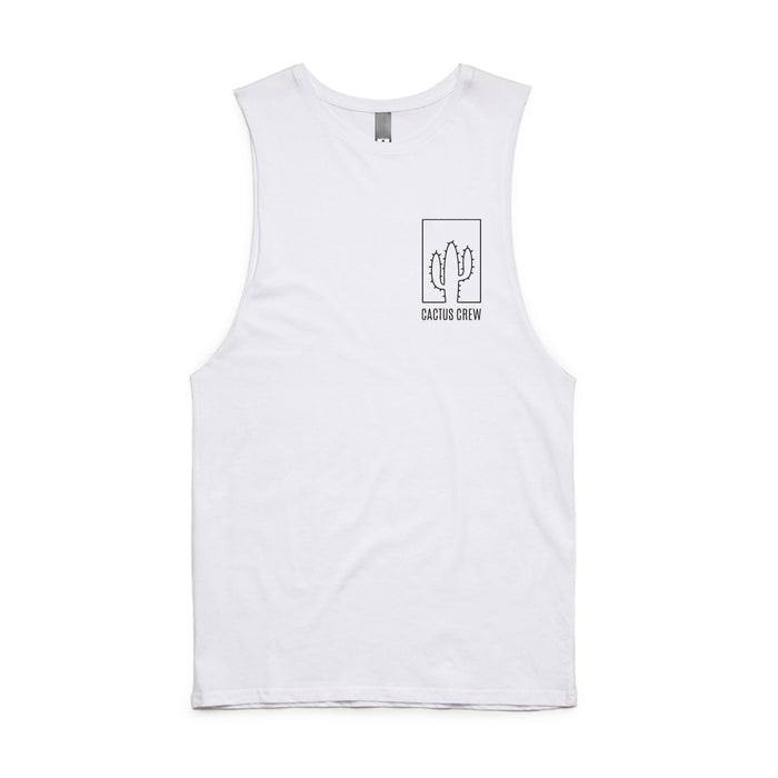 ADULTS CACTUS CREW ORIGINAL TANK WHITE