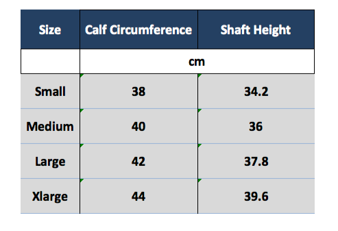 Funtasma hero-100 calf circumference measurements
