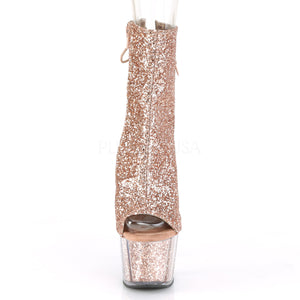 Sexy and Know It Rose Gold Glitter Boots