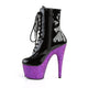 Sexy Devil 7 Inches Purple Glitter Platform Ankle Boots