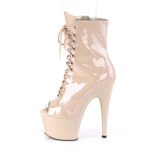 Sexy Devil Open Toe Ankle Boots Nude