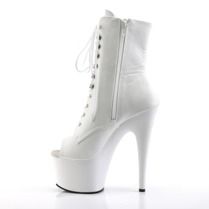 Sexy Devil Open Toe Ankle Boots White