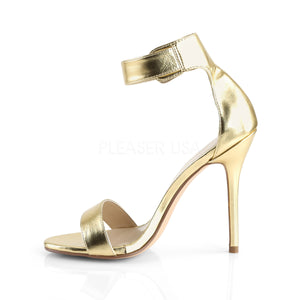 Stiletto Heel Gold Open Toe Sandal