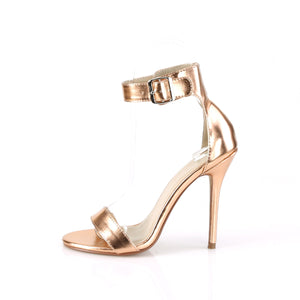Stiletto Heel Rose Gold Open Toe Sandal