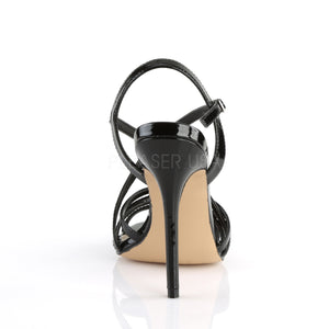 Stiletto Heel Ankle Strap Black Sandals