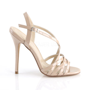 Stiletto Heel Ankle Strap Nude Sandals
