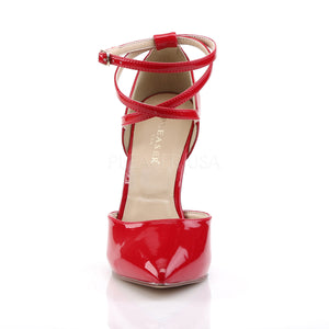 D'Orsay Cross Ankle Strap Red Heels