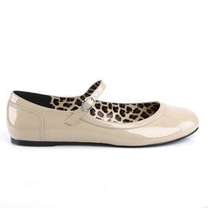 Anna Ballet Plus Size Cheetah Pattern Cream Flats