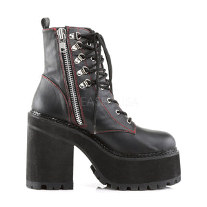 Block Heel Cleated Platform Boots Assault-100