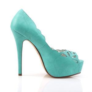 Teal Peep Toe Platforms Bella-30
