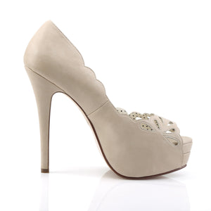 Tan Peep Toe Platforms Bella-30