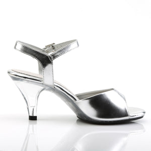 "3"" Ankle Strap Silver Heels"