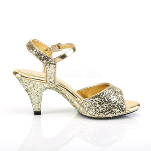 Ankle Strap Glitter Gold Heels
