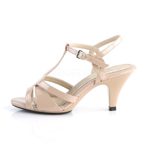 Sexy T-Strap Nude Sandals