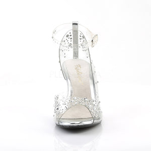 Rhinestone Open Toe Princess Heels
