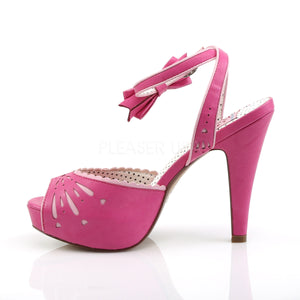 Pin Up Bettie Pink Peep Toe Sandals