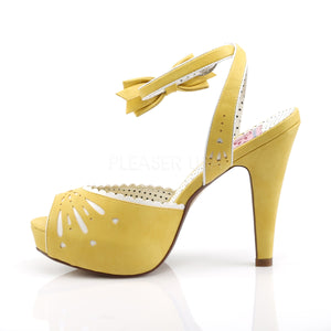 Pin Up Bettie Yellow Peep Toe Sandals