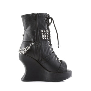 wedge platform punk boots