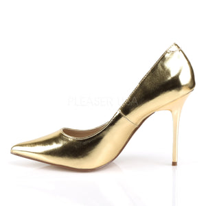 4 Inches Gold Metallic Classic Stilettos