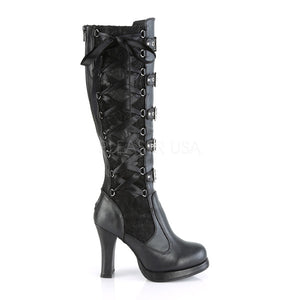 Corseted Platform Black Boots
