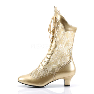 Gold color boots