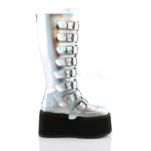 Damned of the Night Boots Silver