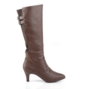 Divine Knee High Boots Brown